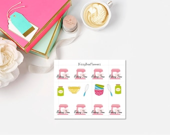 Baking/ Kitchen Mixer Planner Stickers