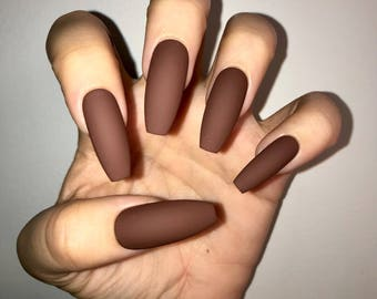 Mudslide Acrylic Nails
