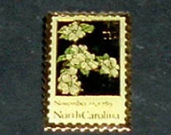 NORTH CAROLINA Pinback (New)