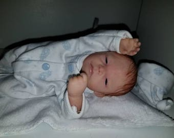 """9"""" ooak clay posable clay baby by TinyToesStudio"""