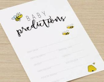 Baby Shower Game - Baby Prediction Cards - Mum To Be - Buzzy Bees