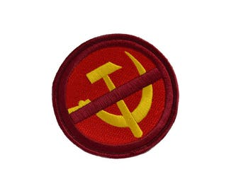 Anti-Communist/Anti-Soviet Anti-Antifa/Anti-Marxist Embroidered Patch