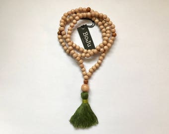 wooden Mala beads - 108 Mala necklace - prayer beads - meditation beads - yoga beads - tassel necklace - mens mala - stretch mala - bracelet