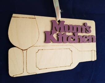 MuMs kitchen unquie birchwood pyrographics beautiful ribbon  all you need iswall hanging sign for modern master chef delightful food cooking