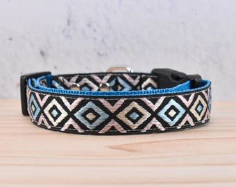 Boho patterned Adjustable Dog Collar / Ethnic / hippie / boho / Ganado petterned / Chinle Patterned / melodys pet collars