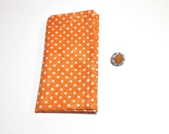 Wedding Lapel Pin, Mens Lapel Pin and Paisley pattern pocket square, Lapel Button, Suit accessory, wedding accessory