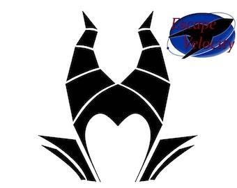 Maleficent  Monogram Castle Cut File For Silhouette, Cricut, SVG... File Download