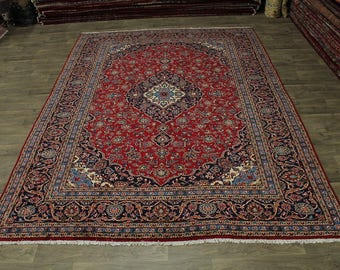 Nice Traditional Antique Handmade Kashan Persian Rug Oriental Area Carpet 10X13