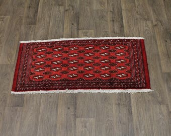 Beautiful Small Size Tribal Red Turkoman Persian Rug Oriental Area Carpet 2X4ʹ5