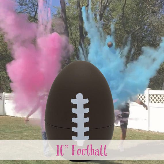 "10"" FOOTBALL Ships Same Day! Gender Reveal Football with Glitter Gender Reveal Football Baseball Golf Ball"