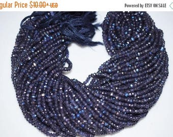 50% OFF Good Quality Purple AB Silver Coated Rondelle Beads - Purple Coated Faceted Rondelle Beads , 4.50 mm - MC175
