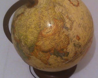 "Vintage Spinning 1985 Rand McNally World Globe, 12"", Desk Globe, World Globe, Office Decor, Map (e)"