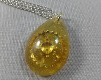 Golden Steampunk Necklace