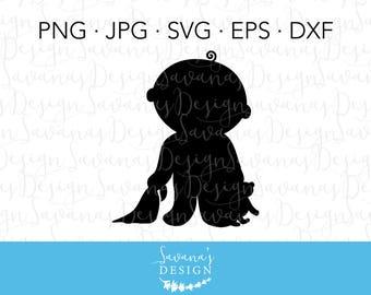 Baby SVG, Baby Onesie SVG, Baby with Teddy, Baby Blanket SVG, Baby Silhouette Svg, Baby Shower Svg File, Newborn Baby Svg, Newborn Svg Files