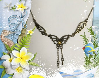Butterfly & Angel Wing Necklace