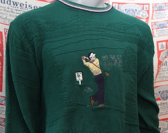 Vintage Golf Sweater // Vintage Sweater // Golf Sweater // 90s Golf Sweater // Crazy Sweater // Vintage Crewneck sweater // Grandpa Sweater