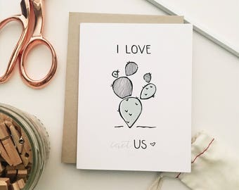 Love Cactus Greeting Card