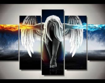 5 Piece  Angel Art Wall Painting