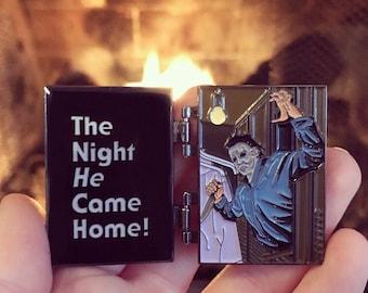 SECONDS Halloween Closet Door Enamel Pin (w/ minor flaws)