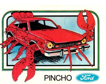 1976 Wonderbread Crazy Cars Pincho Pinto Trading Card