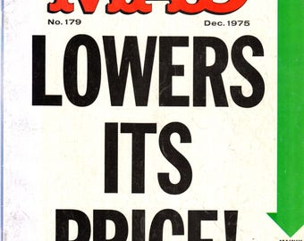 MAD Magazine #179 MAD Lowers Its Price December 1975 Issue