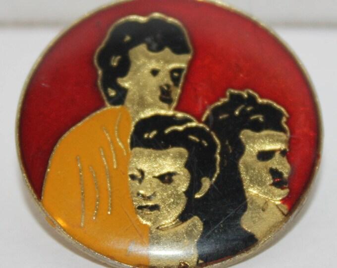Vintage The Police Music Group Enamel Round Pinback button pin hat lapel Sting
