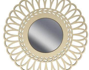 Mirror Lacy wood - wooden - frame wood Crown - 14002456
