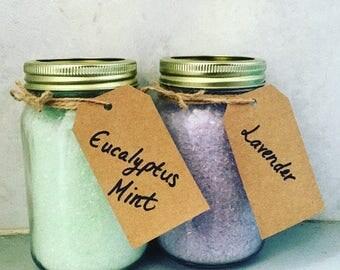 Epsom Bath Soak Mason Jar