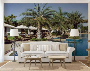 Wall Mural Palms, Palms Wall Decal, Wall Mural Of Palms, Wall Mural Of Garden, Palms Wall Mural