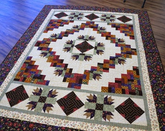 Custom Floral Quilt