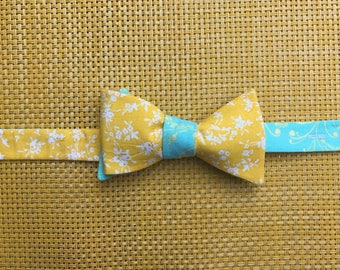 Yellow & light blue floral
