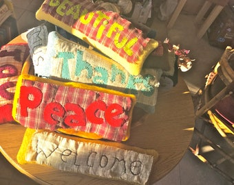Assorted word Pillows