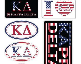 "Kappa Delta ""America"" Sticker Sheet"