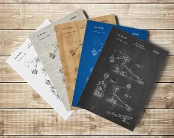Drum Kick Pedal, Kick Pedal, Kick Pedal Poster, Kick Pedal Patent, Kick Pedal Print, Drummer,Gifts for Drummer,Drum Poster, INSTANT DOWNLOAD