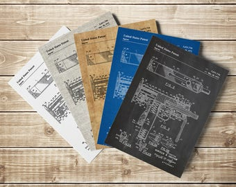 MAC-10 Poster, Uzi, Machine Pistol, Model 10 Pistol, Pistol Blueprint, Mac-10 Printable, Gun Blueprint, Gun Wall Decor, INSTANT DOWNLOAD