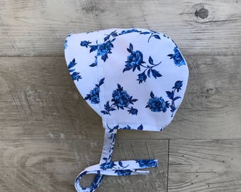 Baby bonnet/ cotton sunbonnet/baby sun hat/ sun bonnet / toddler sun hat /summer baby bonnet with brim/summer baby hat/ bonnet/brimmed hat