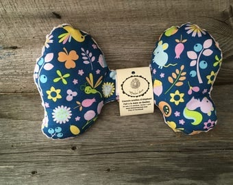 Elephant ears cushion pillow for baby in car seat head mouse Dragonfly Hedgehog squirrel blush minky