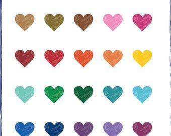 Hearts Shapes Digital Download Clipart
