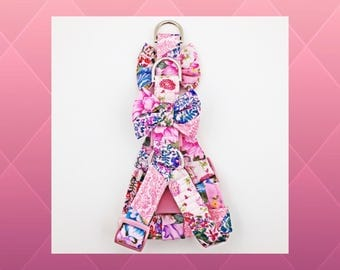 Pink Patchwork Flowers & Bows Step-in Dog or Puppy Harness