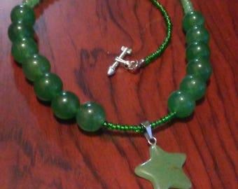 Jade Star Necklace