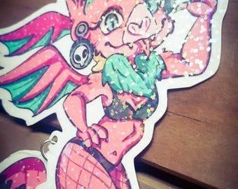 Holographic Fursona Badge | Furry Convention Badge | Fursona Commission | Custom Art | OOAK