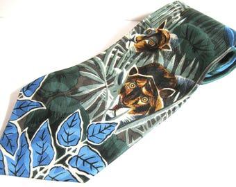 """ROUSSEAU Art Print """"Surprised"""" 100% Silk Tie"""