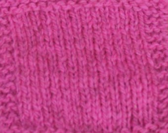 Neon Pink Sport Weight 2 ply wool yarn from our farm
