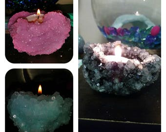 Crystal candle holders choice of color and more to come color requests also welcome