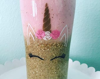 Unicorn glittered insulated tumbler/20oz tumbler