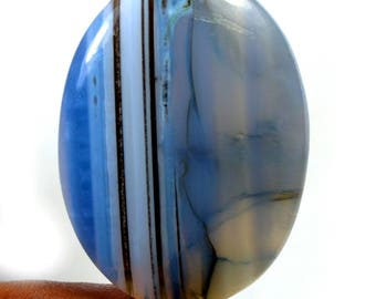 Awesome Quality 51 Ct Natural Blue Opal Oval Shape Loose Gemstone Size 40x29x6 MM, Cabochon Gemstone for Jewelry Making