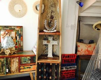 Reclaimed Boat Wood Wine Rack