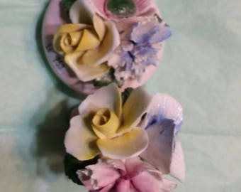 Beautiful colorful porcelain flowers