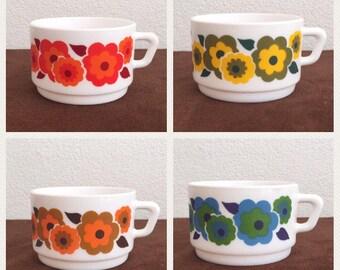 Arcopal soepkommen France Lotus soepkom retro design kop XL vintage cup soup bowl