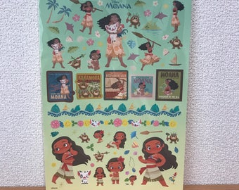 Disney Moana B5 size sticker sheet